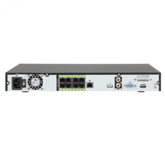 8 Channel 1U 8PoE WizSense Network Video Recorder 2 HDD